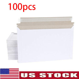 Pack Of 100 Rigid Shipping Mailers Paper Envelopes Bags W self adhesive Strip