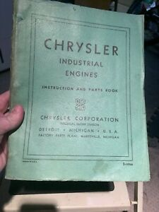 Chrysler Industrial Engines Maintenance And Parts Supplement Manual 1942
