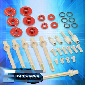 For Acura Honda K series K20 K24 Low Profile Engine Valve Cover Washer Bolt Red