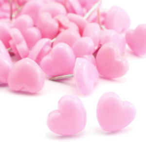 100pcs Heart Shape Push Pins For Home School Office Notice Board Pink
