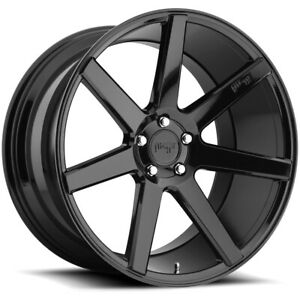 4 niche M168 Verona 20x9 5x120 35mm Gloss Black Wheels Rims 20 Inch