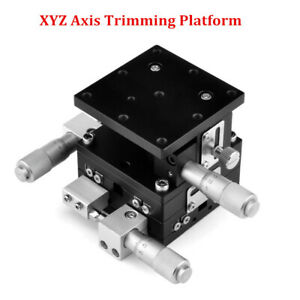 Xyz 3 Axis Linear Stage Station Trimming Platform Bearing Tuning Sliding Table