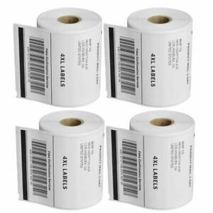 4 Rolls 4x6 Direct Thermal Shipping Shipping Labels Compatible 1744907 Dymo 4xl