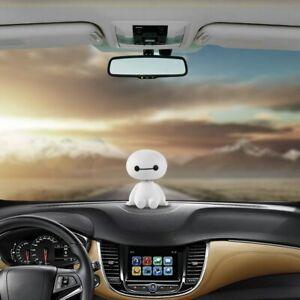 Cute Head Shaking Robot Car Truck Interior Decoration Plastic Toys Accessories