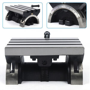 Adjustable Tilting Table Swivel Angle Plate Heavy Duty For Milling Machine 0 45