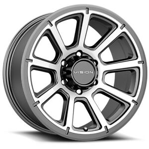 4 vision 353 Turbine 16x8 6x5 5 0mm Gunmetal machined Wheels Rims 16 Inch