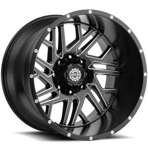 4 scorpion Sc 29 22x14 5x5 76mm Black milled Wheels Rims 22 Inch