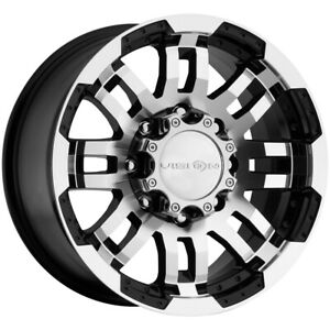 Vision 375 Warrior Trailer 16x6 8x6 5 0mm Black machined Wheel Rim 16 Inch