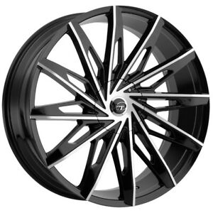Vct V86 20x8 5 5x112 5x4 5 40mm Black machined Wheel Rim 20 Inch