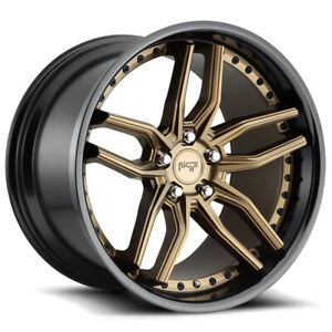 4 niche M195 Methos 20x9 5x112 27mm Bronze black Wheels Rims 20 Inch