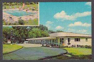 T bird Motel Shelburne Vt Two view Postcard 1960s