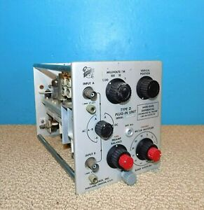 Tektronix Type D High gain Differential Calibrated Dc Preamp Plug In Module