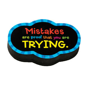 Magnetic Whiteboard Mistake Quote Eraser