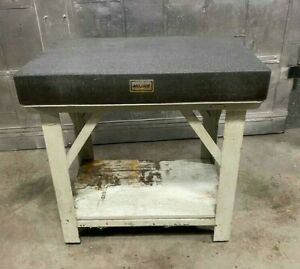 Mojave Granite Precision Surface Inspection Plate 36 X 24 X 5 With Stand