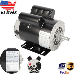 5 Hp Air Compressor Duty Electric Motor 56 Frame 3450 Rpm Single Phase