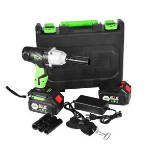 21v 1 2 In Cordless Electric Impact Wrench Power Tool Set W charger 2 battery