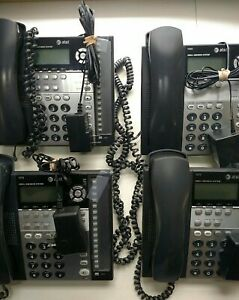 Lot Of 4 At t 1040 4 Line Small Business Phone System W Handsets Power Cords