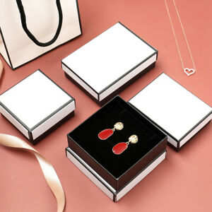 White Gift Box For Ring Necklace Earrings Bracelet Watch Small Present Jewelry