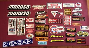 Lot Of 42 New Old Stock Racing Decals Stickers Vintage