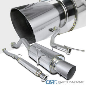 For 94 01 Integra Gs Ls Rs 4 Tip Stainless Steel Catback Exhaust Muffler System