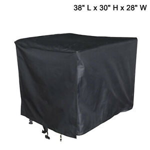 Black Universal Weather Protect Durable Generator Cover Large 38 l X 30 h X 28 w