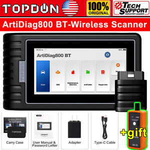 Topdon Ad800 Bt Car Wireless Diagnostic Tool Auto Obd2 Scanner All System Tpms