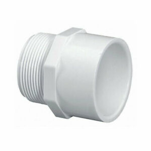 Thrifco Plumbing 4 Inch Male Thread X Slip Pvc Adapter Sch 40 8113212