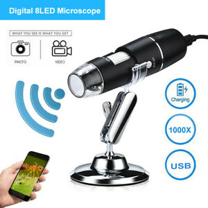 Wifi Microscope Magnifier 1000x Video Usb Endoscope With Stand For Android ios