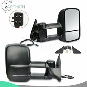 Left right Mirrors For 1992 Chevy K1500 Truck Power Tow Side Towing Mirrors