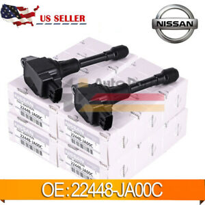4pcs Ignition Coil Fits For Nissan Altima Rogue Sentra Versa 22448 Ja00c Us New