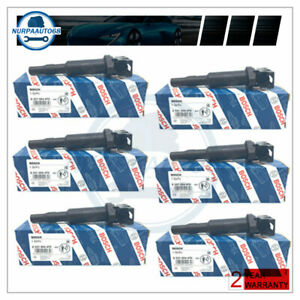 For Bmw Ignition Coil 6 Packs Updated W Connector Boot Genuine Bosch 0221504470