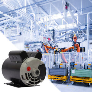 5hp Spl Air Compressor Single Phase Electric Motor 5 8 In Base mounted 3450 Rpm