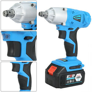 1 2 530nm Electric Cordless Brushless Impact Wrench Set W Battery Charger Box
