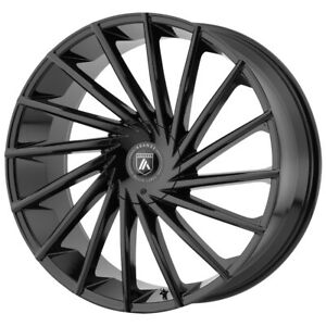 4 asanti Abl 18 Matar 22x9 6x135 6x5 5 15mm Gloss Black Wheels Rims 22 Inch