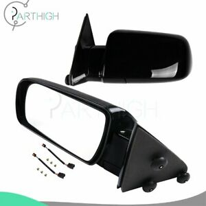 Pair Manual Fold Fits 1988 98 Gmc Chevy Pickup Truck Black Side View Mirrors