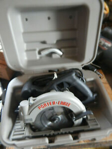 Home Shop Used Porter Cable 843 Left Hand Circular Saw W Brake Wrench Case