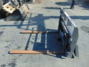 bradco Brand Asv Terex Pt30 Rc30 mini Skid Steer Pallet Forks Attachment