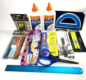 Art Supplies Lot Office Home School Drawing Pastels Highlighter Glue Graphite