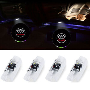 4 Pack Car Door Led Logo Projector Ghost Shadow Lights Welcome Lamp For Toyota