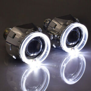 2 5 Bi Xenon Hid Projector Lens Round Led Angel Eyes For Headlight Retrofit