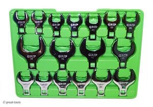 Jumbo Mm Crowfoot Set Large 12 Drive Wrenches Sizes 20mm To 46mm