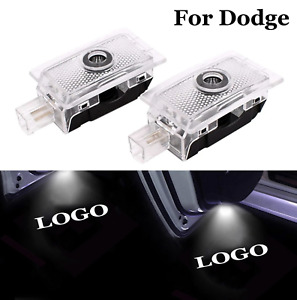 2pcs Car Door Logo Light Courtesy Projector Welcome For Dodge Lights Ghost