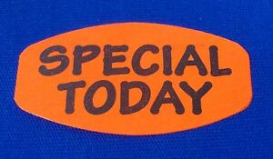 1 000 Self adhesive Special Today Labels 1 5 X 0 75 Stickers Retail Supplies
