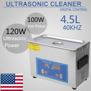 4 5l Ultrasonic Cleaner Cleaning Equipment Liter Industry Heated W timer Heater