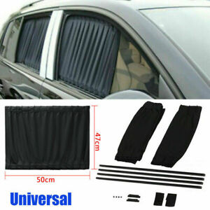 Car Sun Shade Side Window Curtain Auto Foldable Uv Protection Accessories Kit Us
