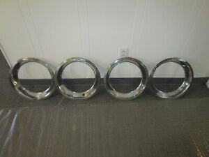 1967 Corvette Stainless Steel 15 Inch Rally Wheel Trim Rings Gm Rough 427 327