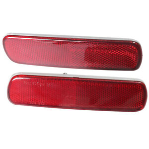 Pair Left Right Rear Bumper Reflector Fit For 1998 2007 Toyota Land Cruiser 100