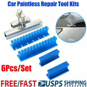 6 Pcs Slide Hammer Tool Puller Lifter Car Body Paintless Dent Removal Repair Kit