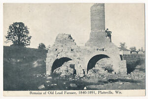 Remains of Old Lead Furnace 1840 1891 Platteville Wisconsin $5.99
