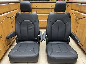 Bucket Seats 2020 Pacifica Chrysler Oem Vanagon Sprinter Trucks Black Leather